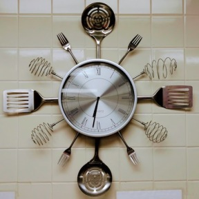 Food at First kitchen clock