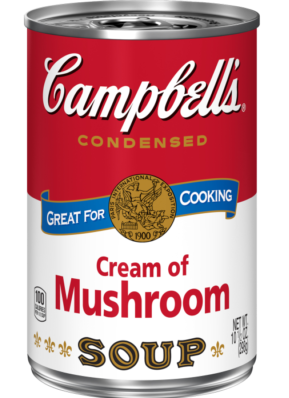 can of Cream of Mushroom soup